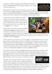 English Worksheet: Star Wars Reading Comprehension