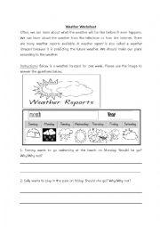 Weather Worksheet - Making Plans