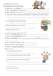 English Worksheet: Scavenger Hunt_Project 3 Fourth Edition Oxford
