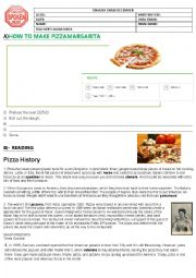 English Worksheet: Pizza Margarita test