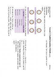 english worksheets english secondary schools p2. Black Bedroom Furniture Sets. Home Design Ideas