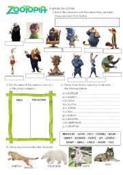 english worksheets zootopia try everything. Black Bedroom Furniture Sets. Home Design Ideas