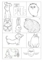 This is an image of Impertinent Secret Life of Pets Printables