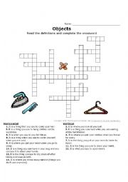 Crossword EVERYDAY OBJECTS