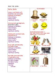 English Worksheet: BELLS, BELLS  (a poem + questions)