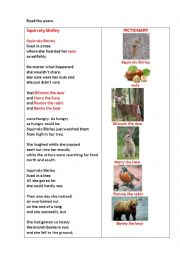 English Worksheet: Squirrely Shirley (a poem + questions)