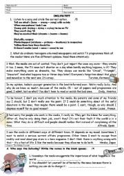 English Worksheet: Mass Media