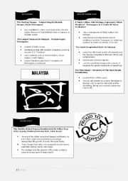 English Worksheet: A mind Map of state of Terengganu, Malaysia