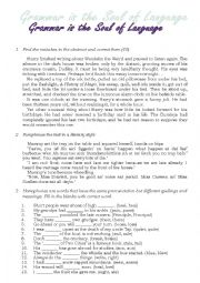 English Worksheet: General Grammar Test