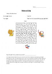 Directions in the maze