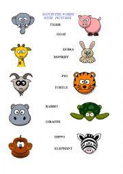 Animals worksheet - kids