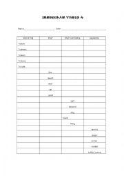 Irregular verbs 4 test