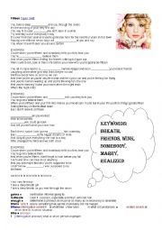 English Worksheet: Listening - Fifteen by Taylor Swift