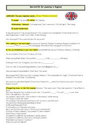 English Worksheet: Survival kit for your stay in Great Britain