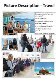 English Worksheet: Picture Description - Travel