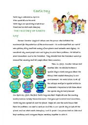 English Worksheet: Earth Day
