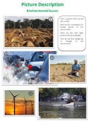 English Worksheet: Picture Description - Environmental Issues