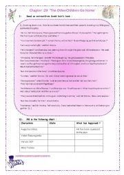 English Worksheet: Reading Charlie and the chocolate factory