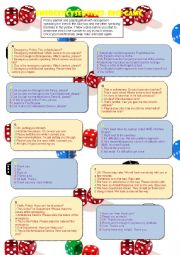 English Worksheet: Emergency Switchboard Dice-game