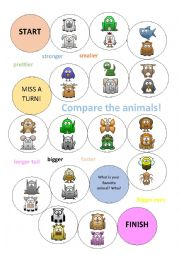 Animal Comparatives Game