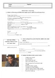 English Worksheet: Lazy song by Bruno Mars