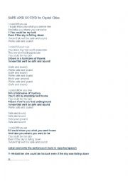 English Worksheet: Safe and sound by Capital cities Reported speech