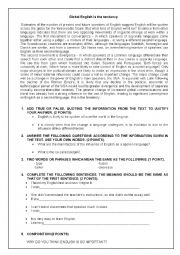 English Worksheet: Englah as a language