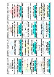 English Worksheet: Use of English Cards