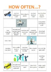 English Worksheet: How often...?