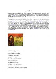 English Worksheet: jamaica