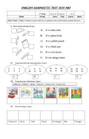 Diagnostic Test 3rd grade