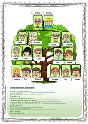 English Worksheet: Extended FAMILY tree