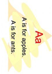 English Worksheets: Alphabet chants