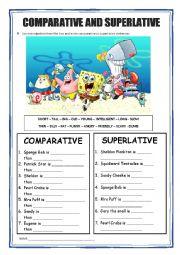 Comparative and Superlative - Sponge Bob