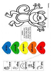 English Worksheet: Rainbow Monkey