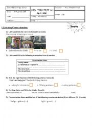 English Worksheet: 8th grade mid-term test 3