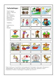 English Worksheet: My Favourite  Funfair