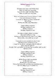 English Worksheet: Song: Nothing Compares to you - Present Perfect with since and for