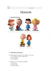 Peanuts Movie Worksheet - Charlie Brown