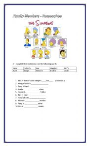 possessive adjectives english exercises pdf