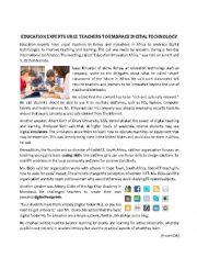 Education Experts Urge Teachers to Embrace Digital Technology