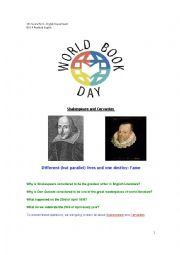 English Worksheet: World Book Day: Shakespeare & Cervantes