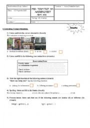 English Worksheet: 8th grade mid-term test 3 Answer sheet