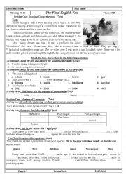 english worksheets accidents worksheets page 3. Black Bedroom Furniture Sets. Home Design Ideas