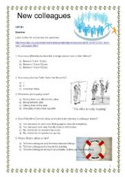 English Worksheet: BBC 6 minute English Welcoming New Colleagues CEF B1