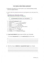 English Worksheet: PAST UNREAL CONDITIONAL WORKSHEET