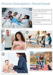 English Worksheet: Picture Description - Parenthood