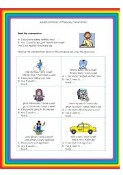 Adverbial Phrases of Frequency Conversation Card