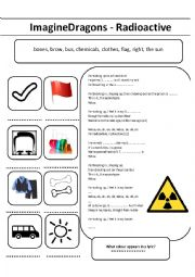 English Worksheet: IMAGINE DRAGONS -