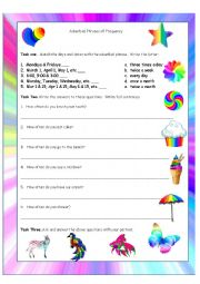 Adverbial Phrases of Frequency Worksheet